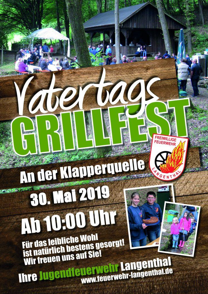 Plakat Grillfest Jugendfeuerwehr